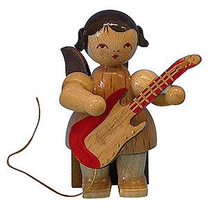 Weihnachtsengel Engel - natur - klein Engel mit E-Gitarre - natur - sitzend - 5 cm
