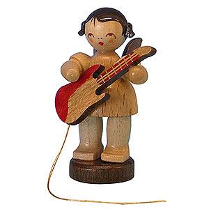 Weihnachtsengel Engel - natur - klein Engel mit E-Gitarre - natur - stehend - 6cm