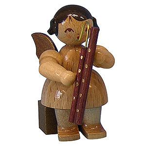 Weihnachtsengel Engel - natur - klein Engel mit Fagott - natur - sitzend - 5cm