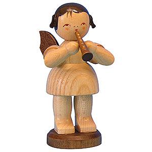 Weihnachtsengel Engel - natur - groß Engel mit Flöte - natur - stehend - 9,5cm