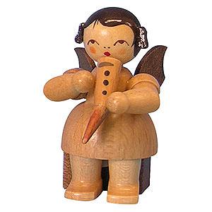 Weihnachtsengel Engel - natur - klein Engel mit Gemshorn - natur - sitzend - 5 cm