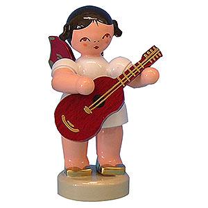 Weihnachtsengel Engel - rote Flügel - klein Engel mit Gitarre - Rote Flügel - stehend - 6 cm
