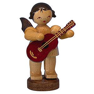Weihnachtsengel Engel - natur - klein Engel mit Gitarre - natur - stehend - 6cm