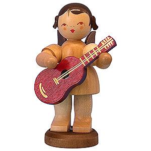 Weihnachtsengel Engel - natur - groß Engel mit Gitarre - natur - stehend - 9,5 cm