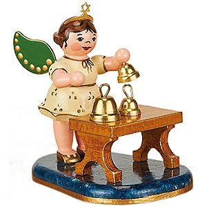 Weihnachtsengel Orchester (Hubrig) Engel mit Glockenspiel - 6,5 cm