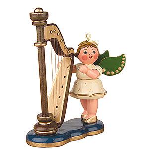 Weihnachtsengel Orchester (Hubrig) Engel mit Harfe - 6,5cm