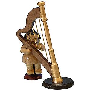 Weihnachtsengel Engel - natur - klein Engel mit Harfe - natur - sitzend - 6cm