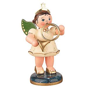 Weihnachtsengel Orchester (Hubrig) Engel mit Horn  - 6,5cm