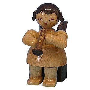 Weihnachtsengel Engel - natur - klein Engel mit Klarinette - natur - sitzend - 5cm