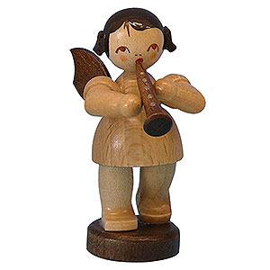 Weihnachtsengel Engel - natur - klein Engel mit Klarinette - natur - stehend - 6 cm