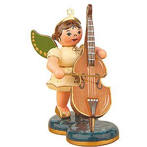 Weihnachtsengel Orchester (Hubrig) Engel mit Kontrabaß - 6,5cm