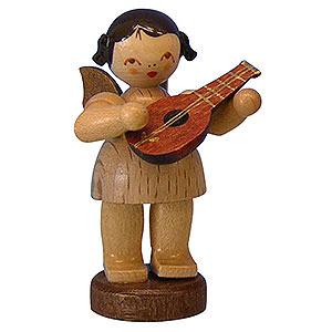 Weihnachtsengel Engel - natur - klein Engel mit Mandoline - natur - stehend - 6cm