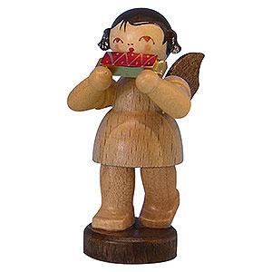 Weihnachtsengel Engel - natur - klein Engel mit Mundharmonika - natur - stehend - 6cm