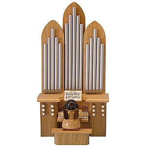 Weihnachtsengel Engel - natur - klein Engel mit Orgel - natur - stehend - 6cm