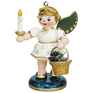 Weihnachtsengel Engel - weiß Engel mit Pfefferkuchen - 6,5cm