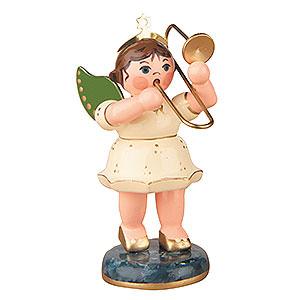 Weihnachtsengel Orchester (Hubrig) Engel mit Posaune - 6,5cm