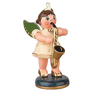 Weihnachtsengel Orchester (Hubrig) Engel mit Saxophon - 6,5 cm