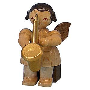Weihnachtsengel Engel - natur - klein Engel mit Saxophon - natur - sitzend - 5 cm