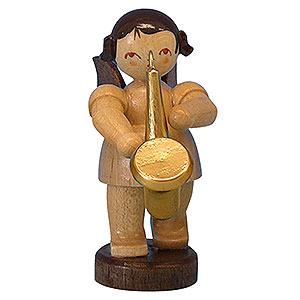 Weihnachtsengel Engel - natur - klein Engel mit Saxophon - natur - stehend - 6cm