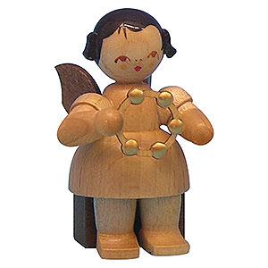 Weihnachtsengel Engel - natur - klein Engel mit Schellenring - natur - sitzend - 5cm