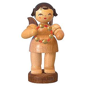 Weihnachtsengel Engel - natur - klein Engel mit Schellenring - natur - stehend - 6 cm