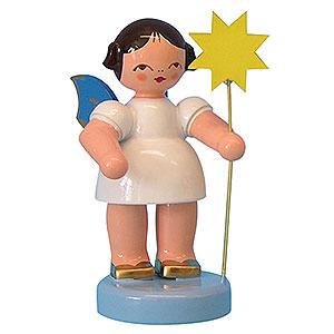 Weihnachtsengel Sonstige Engel Engel mit Stern - Blaue Flügel - stehend - 6cm