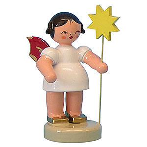 Weihnachtsengel Sonstige Engel Engel mit Stern - Rote Flügel - stehend - 6cm