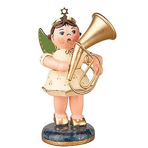 Weihnachtsengel Orchester (Hubrig) Engel mit Tenorhorn - 6,5 cm