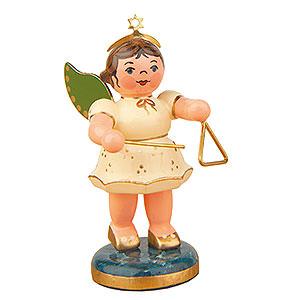 Weihnachtsengel Orchester (Hubrig) Engel mit Triangel  - 6,5cm