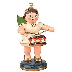 Weihnachtsengel Orchester (Hubrig) Engel mit Trommel  - 6,5cm