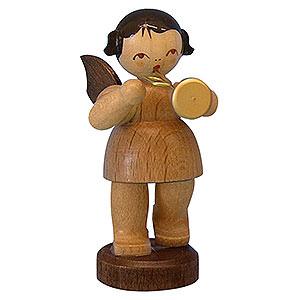 Weihnachtsengel Engel - natur - klein Engel mit Trompete - natur - stehend - 6cm