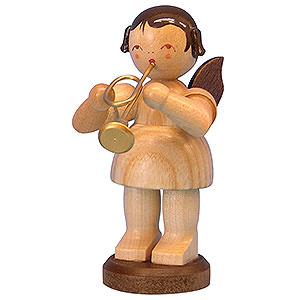 Weihnachtsengel Engel - natur - gro� Engel mit Trompete - natur - stehend - 9,5cm