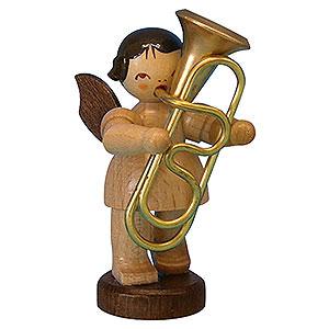 Weihnachtsengel Engel - natur - klein Engel mit Tuba - natur - stehend - 6 cm