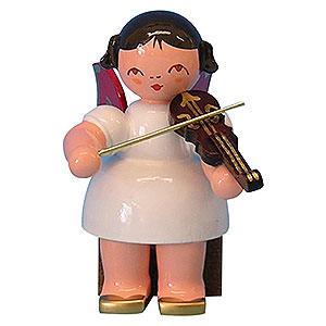 Weihnachtsengel Engel - rote Fl�gel - klein Engel mit Violine - Rote Fl�gel - sitzend - 5cm
