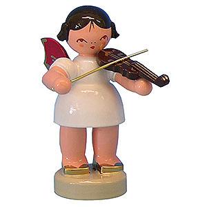 Weihnachtsengel Engel - rote Flügel - klein Engel mit Violine - Rote Flügel - stehend - 6 cm