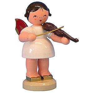 Weihnachtsengel Engel - rote Flügel - groß Engel mit Violine - Rote Flügel - stehend - 9,5 cm