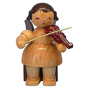 Weihnachtsengel Engel - natur - klein Engel mit Violine - natur - sitzend - 5 cm