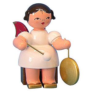 Weihnachtsengel Engel - rote Flügel - klein Engel mit kleinem Gong - Rote Flügel - sitzend - 5 cm