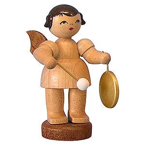 Weihnachtsengel Engel - natur - klein Engel mit kleinem Gong - natur - stehend - 6cm