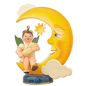 Weihnachtsengel Engel - weiß Engelbub Mond-Schäfchen - 20cm