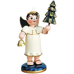 Weihnachtsengel Engel - weiß Engelbub mit Tannenbaum - 6,5cm