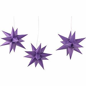 NEUHEITEN Erzgebirge-Palast Adventsstern 3er-Set violett - 17cm