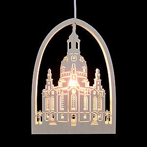 Lichterwelt Fensterbilder Fensterbild - Frauenkirche - 21,5x29,5cm