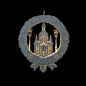 Lichterwelt Fensterbilder Fensterbild Frauenkirche - Durchmesser 31,5 cm