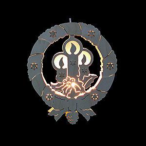 Lichterwelt Fensterbilder Fensterbild - Kerzen - Durchm. 31,5 cm