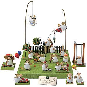 Weihnachtsengel Günter Reichel Schutzengel Figurengruppe 'Im Obstgarten' - 3,5cm
