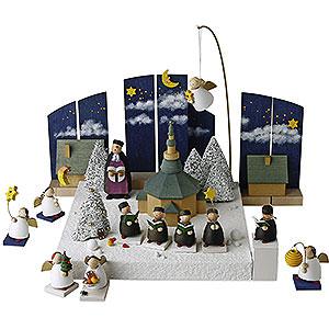 Weihnachtsengel Günter Reichel Schutzengel Figurengruppe 'Im Weihnachtsland' - 3,5 cm