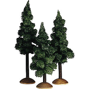 Angels Reichel decoration Fir tree with trunk, set of three - 17cm / 6.7inch