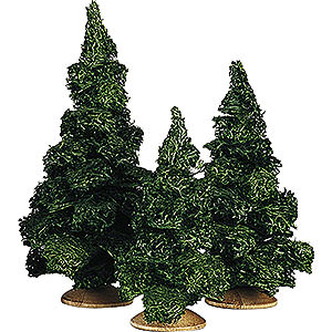 Angels Reichel decoration Fir tree without trunk, set of three - 13cm / 5.1inch