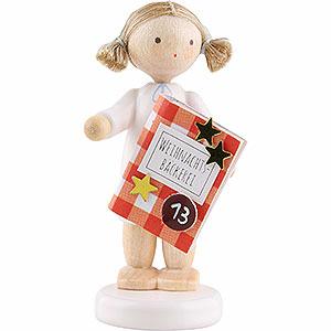 Weihnachtsengel Flade Flachshaarengel Flachshaarengel mit Backbuch (13)- 5cm